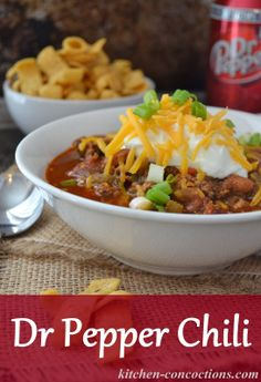 Kitchen Concoctions: Dr Pepper Chili #recipe #dinner #chili