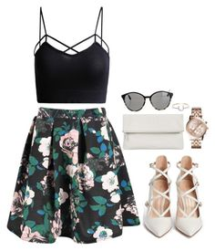 """""""Untitled #1134"""" by mel5-973 ❤ liked on Polyvore featuring Boohoo, STELLA McCARTNEY, Michael Kors, Gianvito Rossi, Whistles and I+I"""