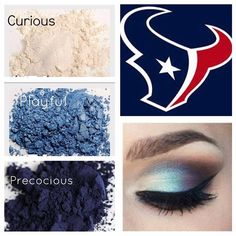 Are you sporting your team colors for Sunday Football? Texans Win! Younique Mineral Makeup paired with 3D Fiberlashes = another win!