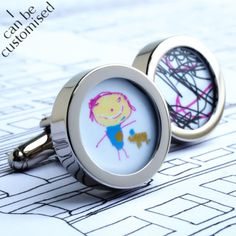 Custom Cufflinks of Your Children's Drawings, Paintings or Computer Art