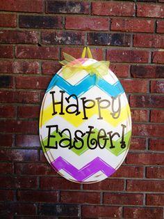Easter egg door hanger by onlaurellanedesigns on Etsy, $40.00