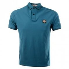Stone Island Teal Slim Fit Short Sleeve Polo. Available now at www.brother2brother.co.uk