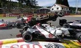 Lotus driver Romain Grosjean was in the middle of a huge pileup at last year's Belgian Grand Prix.
