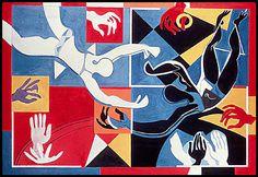 Applause, 1973. By Françoise Gilot (France, born 1921). Oil on canvas.
