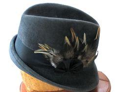 Fedora  Fur Felt Hat  Women Fall Fashion Winter by katarinacouture