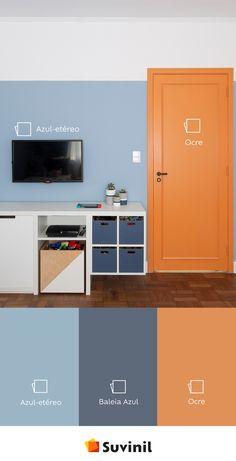 Home Design Decor, House Design, Interior Design, Paint Colors For Home, House Colors, Modern Study Rooms, Color Combinations Home, Funky Decor, Loft House