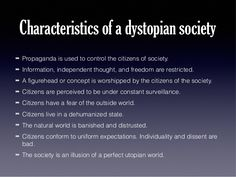 dystopian society examples