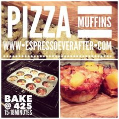 I interrupt your evening routine with a delicious daydream ... Pizza Muffins!!! Run on over to my blog to print out this yummy recipe!  These little  will be a TOUCHDOWN at your game-day party! www.espressoeverafter.com - clickable link in bio ••• Tune in tomorrow to find my LAST crowd favorite, game-day snack!  You don't want to miss out! Your guests will thank you! xoxo
