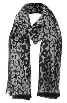 Woven leopard print scarf. | @Nordstrom
