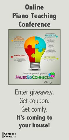 Online Piano and Music Teaching Conference is coming! Special coupon and giveaway.  #conference #piano #music