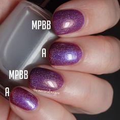 Colores De Carol Amethyst vs. Fair Maiden Polish Merry Plum Berry And Bright