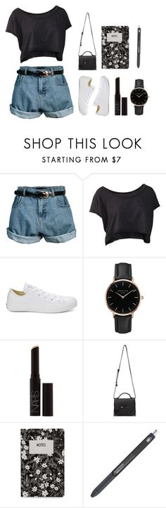 """""""Hey"""" by shotstyle ❤ liked on Polyvore featuring Retrò, Converse, Topshop, NARS Cosmetics, Mackage and Design Letters"""