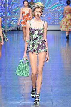 Dolce & Gabbana Spring 2012 RTW Eggplant-Print Bodysuit ...