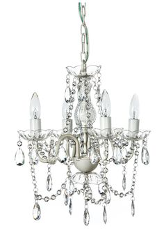 Gypsy Color 4 Arm CRYSTAL WHITE Small Acrylic CRYSTAL CHANDELIER New Chic Lighting Ceiling Fixture Best Selling Entryway Bathroom Bedroom Closet Chandeliers, FREE Shipping, Crystal White - - Amazon.com