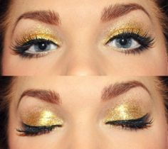 Gold sparkles! So simple