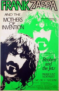 Frank Zappa and The Mothers of Invention 1972  with special guests Reuben and the Jets