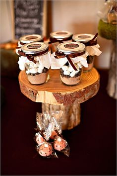 hot coco wedding favors...this would be perfect for a late fall/winter wedding :) Cute! :)