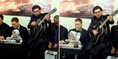 REYNAZUL TU RADIO AMIGA... Y VIVA POR SIEMPRE...: Michael Bublé toca junto a su pequeño hijo Noah.