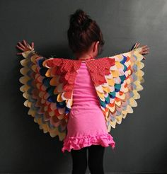 14 Cute Bird Craft Projects, make wings for your child or yourself.