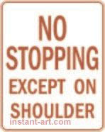 088 No stopping except on shoulder $1.64 #signs #traffic #road #USA