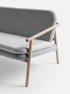 For Now Sofa is a minimal sofa created by Copenhagen-based designer Chris Liljenberg Halstrøm for +Halle.