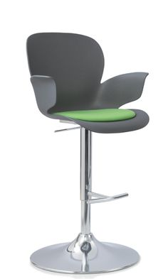 Calixo height adjustable high chair/ studio chair with seat pad by Koehl Seaing