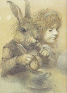 Robert Ingpen's illustration from Alice's Adventures in Wonderland