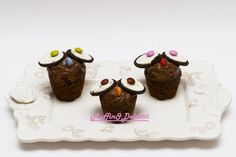 Muffin Gufetti con Oreo! Per la videoricetta clicca qui: http://youtu.be/OjK7FU8jLHo    Muffin Owl with Oreo! For the recipe click: http://youtu.be/OjK7FU8jLHo