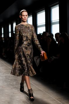 Bottega Veneta Fall/Winter 2014--I love every look here! Wow! Really beautiful dresses that I could actually wear!