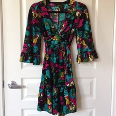 Romeo + Juliet Silk Dress Gorgeous silky material will make you fall in love with this one of a kind Betsey Johnson Dress. Betsey Johnson Dresses Long Sleeve