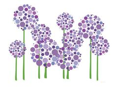 Purple Allium Kunstdruk