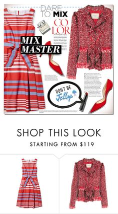 """Pattern Mix Master"" by rosie305 ❤ liked on Polyvore featuring Lanvin, Benefit, Sophia Webster and patternmixing"