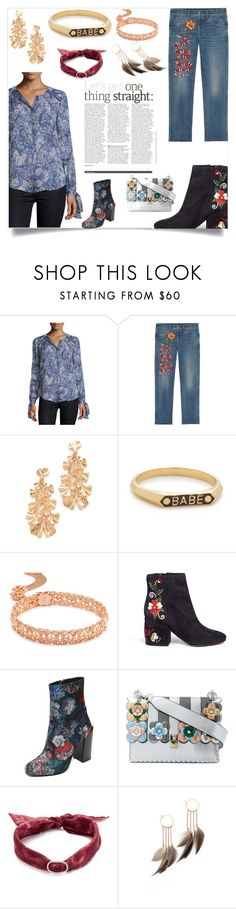 """Halloween party"" by denisee-denisee ❤ liked on Polyvore featuring Rebecca Taylor, Gucci, Stella + Ruby, Nora Kogan, Kendra Scott, Sam Edelman, Jeffrey Campbell, Fendi, DANNIJO and Serefina"
