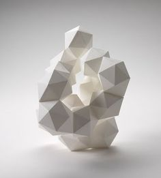 Faceted paper sculpture  by Daryl Ashton