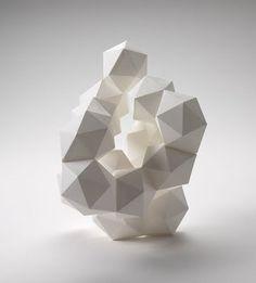 DARYL ASHTON, 3D GEOMETRIC PAPER SCULPTURE: custom paper sculptures, more here: darylashton.com