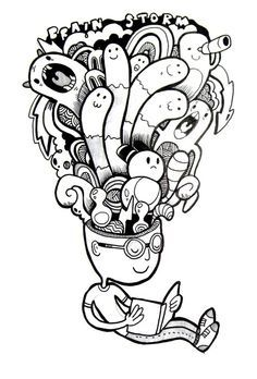 1000 Images About Doodle Invasion Coloring Book On Pinterest