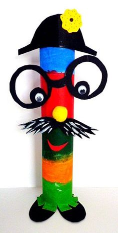 Fantasy figures u. Newspaper garland - Carnival crafts - My grandchildren . - Fantasy figures u. Newspaper garland – Mardi Gras – My grandchildren and I - Clown Crafts, Circus Crafts, Carnival Crafts, Carnival Decorations, School Decorations, Fall Crafts, Diy And Crafts, Arts And Crafts, Toilet Paper Roll Crafts
