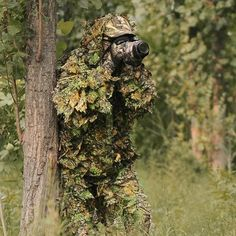 34.19$  Buy here  - Free shipping Bionic Ghillie Suits ,maple leaf  camouflage, hunting suit  Recon, Paintball, Airsoft, Photographing, Military --5