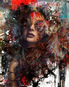 """Saatchi Art is pleased to offer the painting, """"you just filtering,"""" by yossi kotler, available for purchase at $3,875 USD. Original Painting: Acrylic, Ink, Digital, Color, Paint on Canvas. Size is 47.2 H x 37.8 W x 2 in. Potrait Painting, Portrait Art, Portraits, Mixed Media Painting, Acrylic Painting Canvas, Paintings For Sale, Original Paintings, Aerosol Paint, Abstract Styles"""