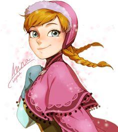 Frozen - Anna by lluna10 on deviantART