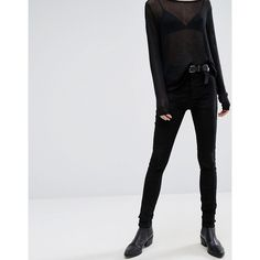 Dr Denim Plenty Mid Rise Velvet Jean ($76) ❤ liked on Polyvore featuring jeans, black, velvet jeans, skinny fit jeans, dr. denim, dr denim jeans and flap-pocket jeans