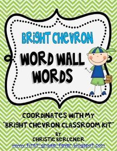 This set includes all Pre-Primer through Second Grade Dolch Words plus a few extra requests. Coordinates with my BRIGHT CHEVRON CLASSROOM KIT. Be s...