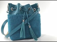 TUTORIAL BAG - Borse uncinetto - SOUL BAG - Punto basso in costa - YouTube