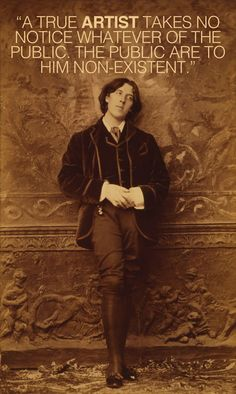"Oscar Wilde on Art by Maria Popova  ""The temperament to which Art appeals … is the temperament of receptivity."""