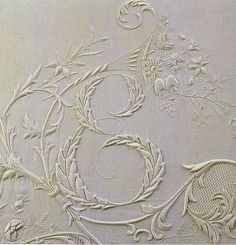 Antique Embroidery. This is just exquisite and will probably never be done again!