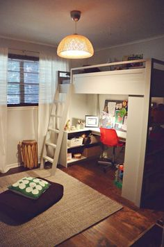 A loft is perfect for tiny bedrooms.