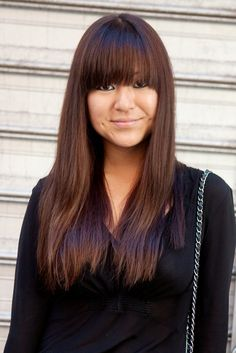 """chestnut fall color.  her long tresses make me """"long"""" for my recently chopped locks. #fallhair"""