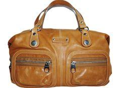 Hogan by tod's tan leather satchel handbag