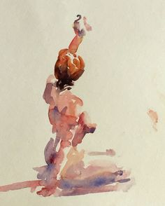 """Wilson, Keene - """"Anna with Shell - 15 min"""" #sketch, #gesture, #drawing…"""