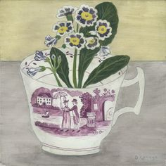 Debbie George 'Auricula in a cup' www.debbiegeorge.co.uk